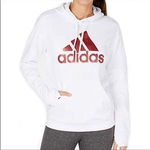 Adidas Women's Originals Shine Logo White Hoodie